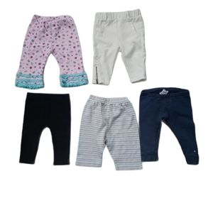 💗Lot of 5 Baby Pants, 3-6m